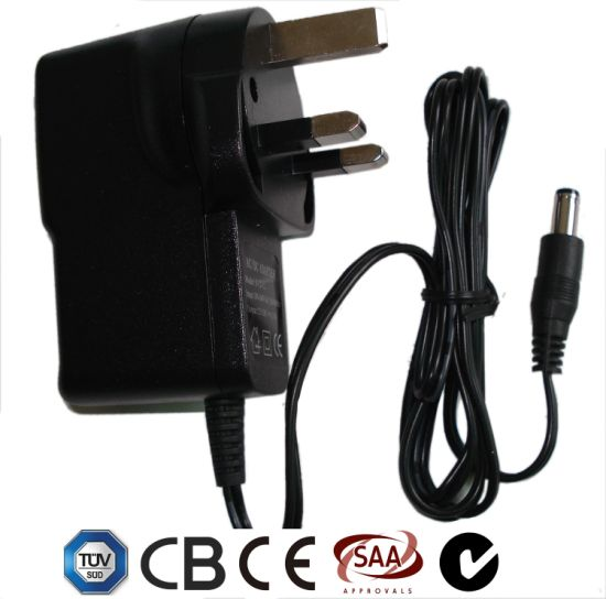 TUV Ce CB SAA C-Tick Certificate 12V1a 12W UK Plug Wall Mount DC Switch Power Battery Charger