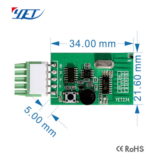315MHz 433MHz Automatic Glass Door Receiving Board RF Receiver Module Yet234 pictures & photos