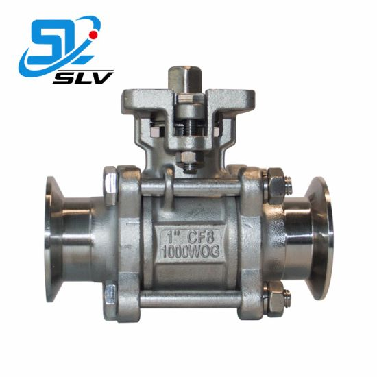 SUS304 316 Quick Connection Clamp Ball Valve with High Platform pictures & photos