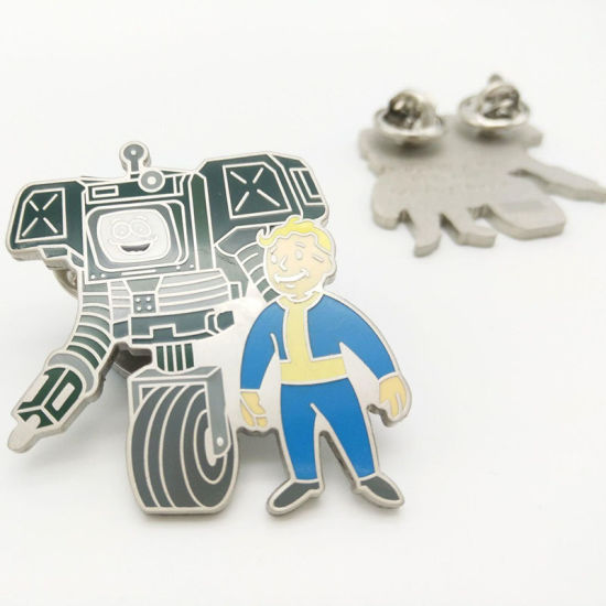 China Professional Custom Matte Nickel Plated Metal Enamel Pins