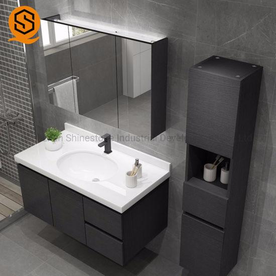 China Custom Artificial Stone Single Modern Sink Bathroom Vanity