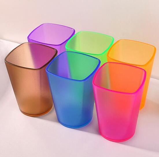 Plastic Water Cup Tooth Mug Creative Tea Cup Children Cup Transparent Daily Necessities
