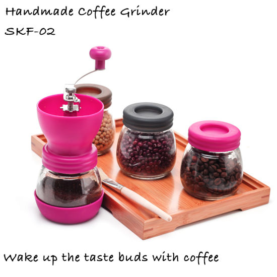 Hand-Crank Stainless Steel Coffee Grinder with Conical Ceramic Burr