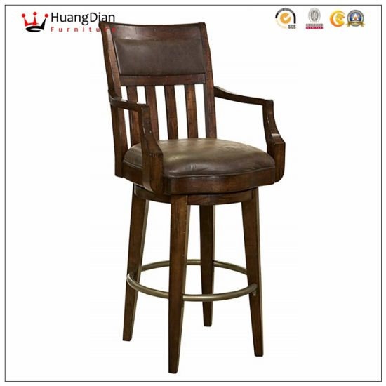 Chinese Wholesale Furniture Factory Custom Armrest Restaurant Bar Stool pictures & photos