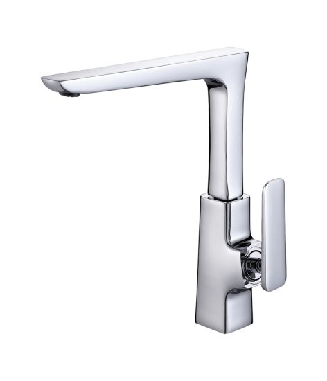 Kitchen Sink Faucet Single Handle Pull Down Faucet with Sprayer, Chrome Finish pictures & photos