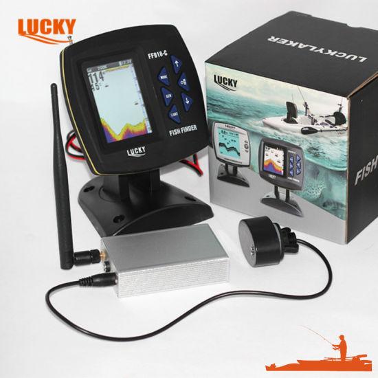 RC Bait Boat Fish Finder Color Display Wireless Boat Fish Finder (FF918CWLS FF918C-WLS)