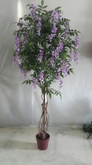 High Quality of Artificial Plants Natural Trunk with Flowers Westeria Gu-SL-130-840-45yellow pictures & photos