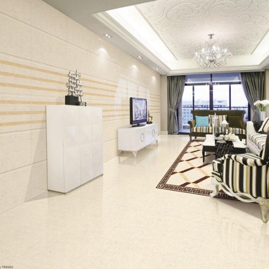 60x60 Beige Interior Polished Porcelain Floor Tile With Sgs