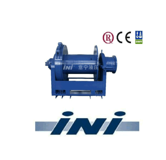 500kn/ 50 Ton Diesel Marine Winch Hydraulic Mooring Winch with Warping End and Clutch for Petroleum Engineering Lifting and Pulling