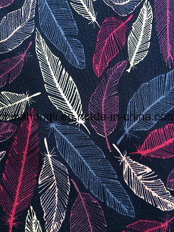 Popular Feather Printed Cotton/Modal for Garment pictures & photos