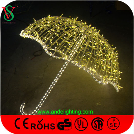 Colorful LED Umbrella Light Christmas Decoration pictures & photos