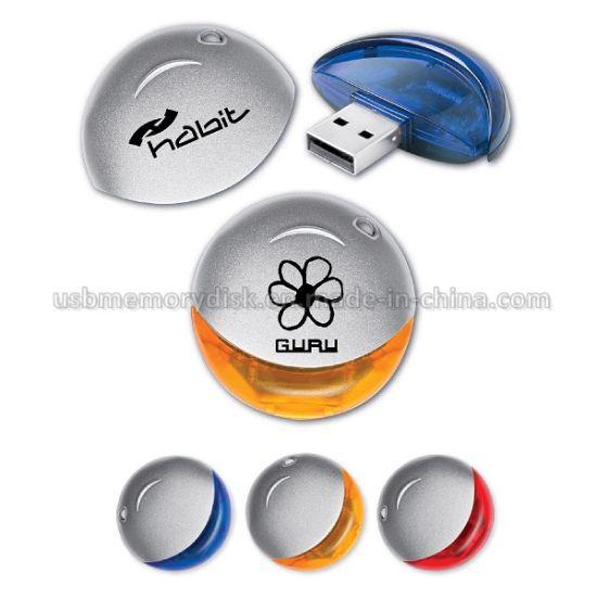 Promotional Round Plastic USB Mass Storage Device (PL-007)