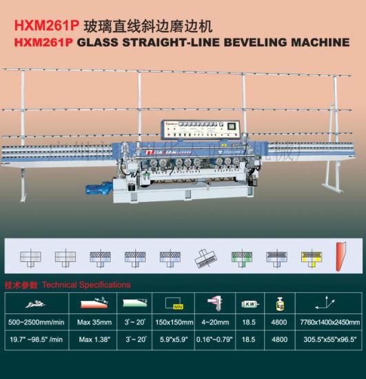 9 Motors Automatic PLC Control Glass Beveling Machine