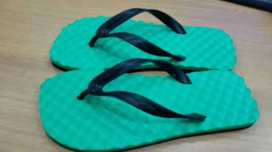 Soft EVA Flip Flop with Printing in PVC Strap pictures & photos