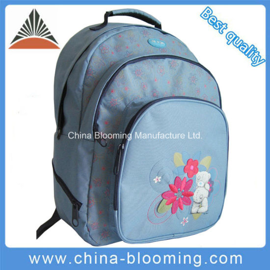 Top Quality Polyester Girls Double Shoulder Student Backpack School Bag pictures & photos