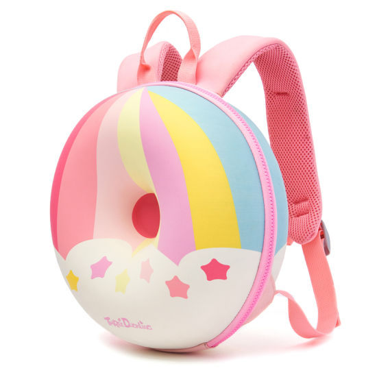 High Quality Rainbow EVA PU 3D Donut Children Kids Hard Shell Backpack Toddler School Bag