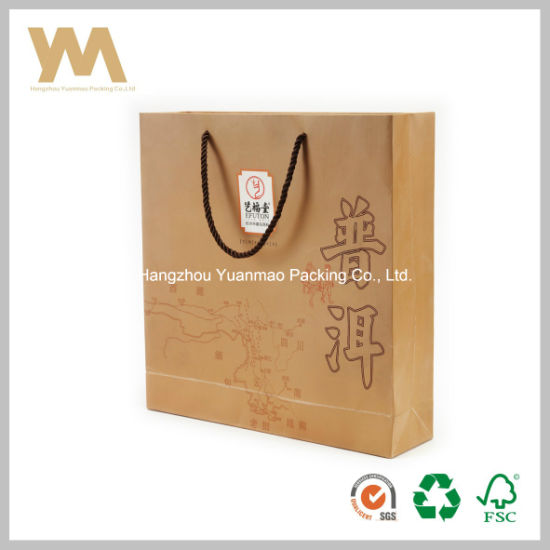 Custom Printed Kraft Paper Bag for Tea pictures & photos