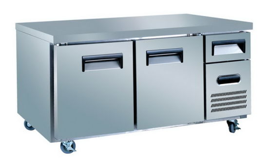 china manufacturer stainless steel commercial under counter refrigerator chiller freezer - Commercial Undercounter Refrigerator