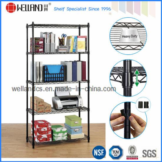 Diy 5 Tiers Metal Office Wire Display Shelf