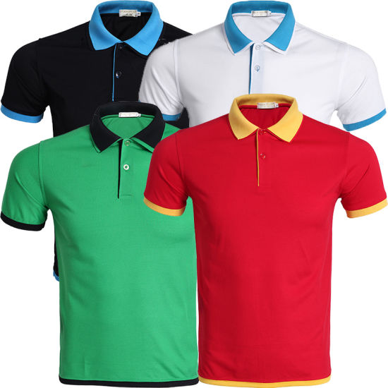 Customized Wholesale High Quality Plain Mens Polo T Shirts with Customer Logo