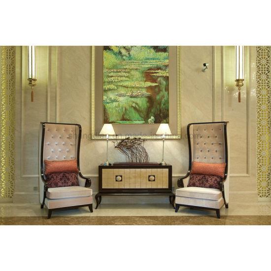 Charmant Hotel Lobby Decoration Furniture High Back Sofa Chair (SL 01)