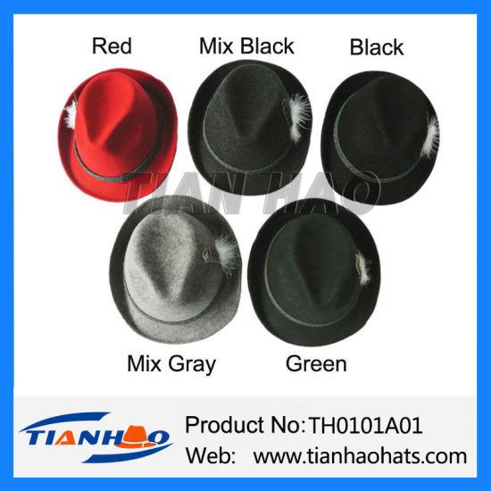 China Blend Color 100% Wool Felt Mountain Alpine Germany Fedora Hat ... 30f3a318da6