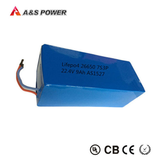 Rechargeable 26650 7s3p 25.6V 9000mAh LiFePO4 Battery pictures & photos