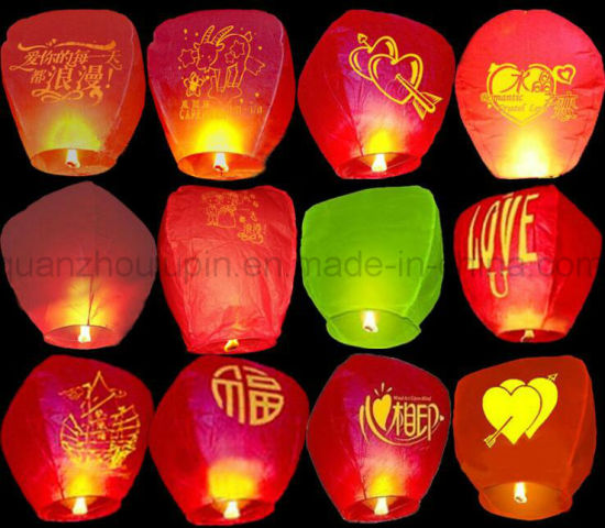 OEM High Quality Paper Sky Wishing Light Lantern pictures & photos