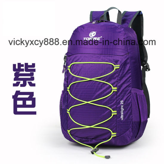 Outdoor Sports Folding Leisure Climb Travel Promotional Backpack Bag (CY3304) pictures & photos