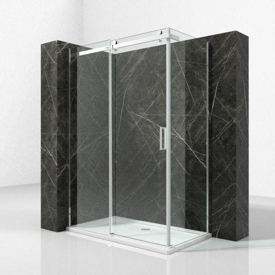 Bathroom Aluminium Frame Rectangular Shower Cabin With Sliding Door