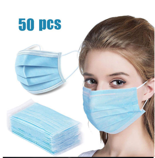 Hypoallergenic 3-Ply Prevention Protection Masks Disposable Mask Disposable Face Masks