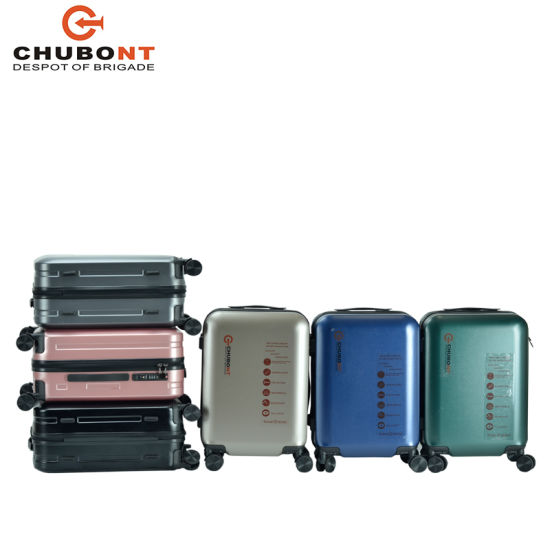 2020 100% PC Travel Hard Side Trolley Luggage with USB