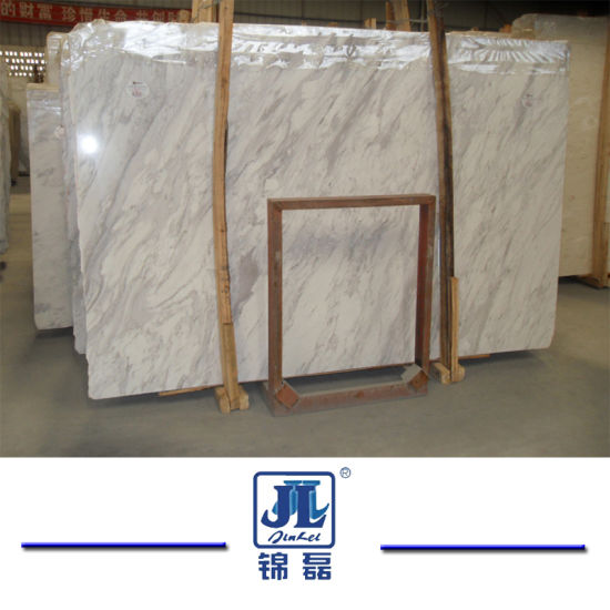 Natural Stone Polished Volakas White Marble for Kitchen and Bathroom and Wall and Floor and Window Sill and Vanity Tops and Stair and Bathroom pictures & photos
