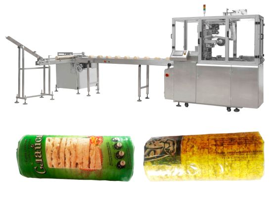 X-Folded on Edge Biscuit Overwrapping Machine