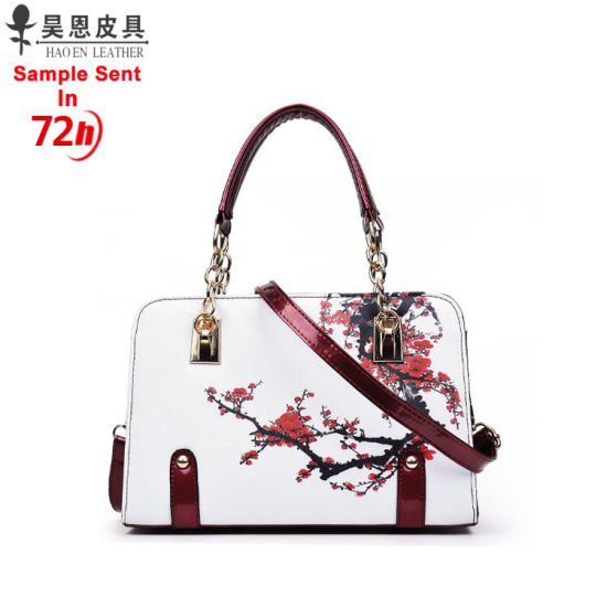 Guangzhou Factory Stocks And Without Any Moq 2018 Chinese Style New Pu Leather Fashion Designer Women Female Tote Las Handbag