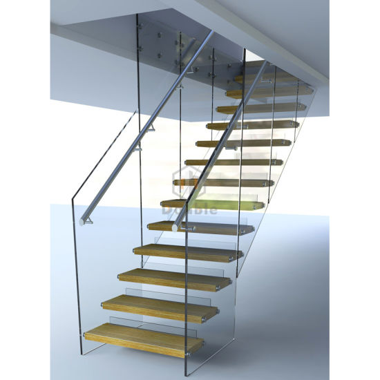 Indoor Stairs Design/Floating Staircase/Wooden Stairs
