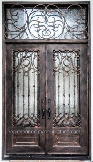 Manufacturer China Direct Price Wrought Iron Front Door Exterior