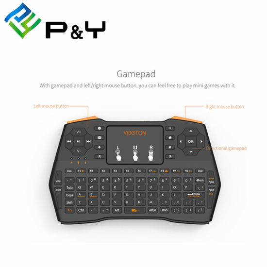 China New Arrival I8 Plus 2 4GHz with Wireless Hand Held Keyboard