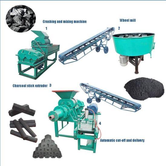 Briquetting Extruder Charcoal Briquette Making Equipment