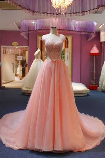 Sequin Pink Chiffon Fashion Dress Evening Gown