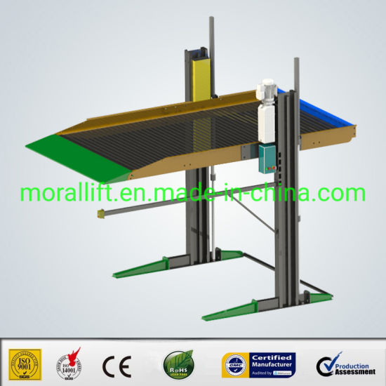 Apartment Installation Double Deck 2 Post Hydraulic Parking Lift