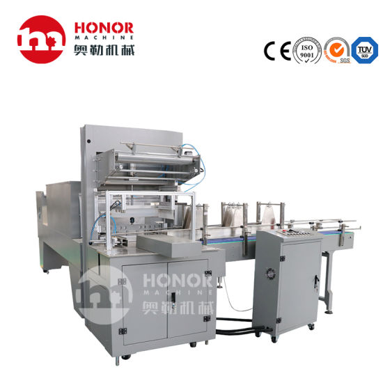 PE Film Automatic 0.2-2L Plastic Bottle Drinking Water Juice Carbonated Soft Drink Beverage Shrink Wrapping Packing/Packaging/Package Machine/Equipment