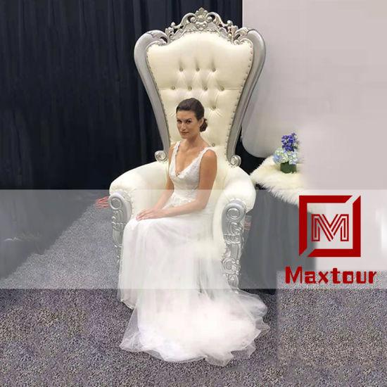 Luxury King Throne Chair Gold Wedding Chair Rental