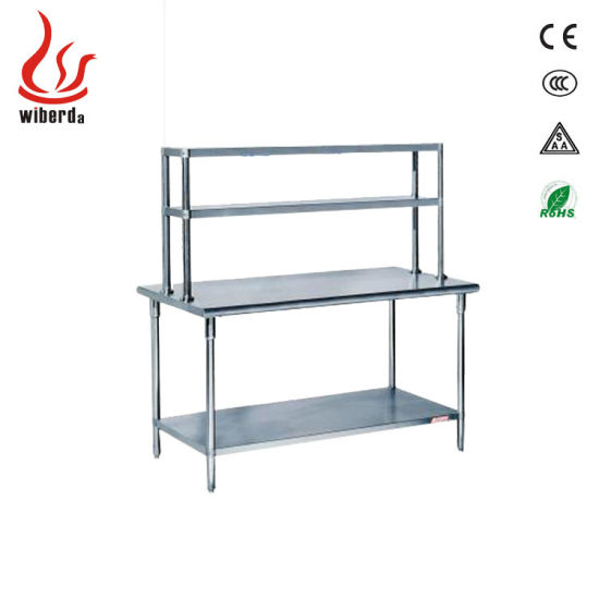 Assembling Stainless Steel Kitchen Table Bench Shelf Workbench pictures & photos