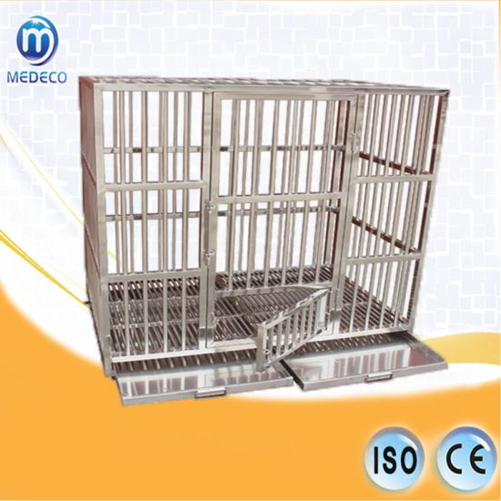 Animal Clinic Stainless Steel Square Tube Pet Cage Mefg-01 pictures & photos