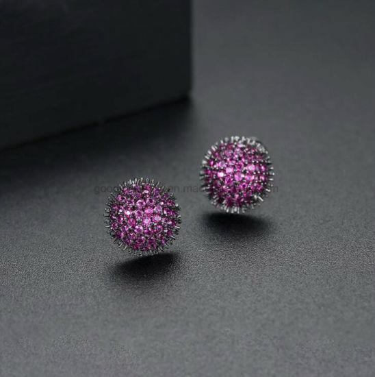 Fashion Jewelry Sea Urchin Shape Brass Earring Costume Jewelry