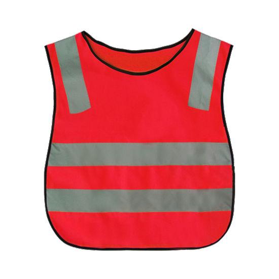 100% Polyester Kids Road Safety Warning Reflective Jacket Reflective Vest