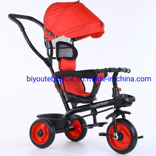 Kids Tricycle 4in1 with Basket Baby Stroller