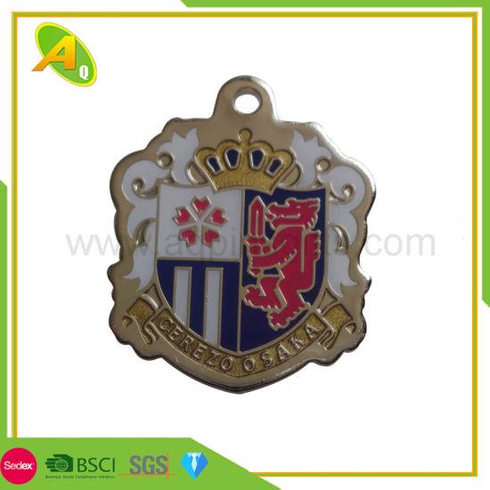 Free Sample Custom Gold Black Nickel Colorful Metal Badge with Glitter Gift  (201)