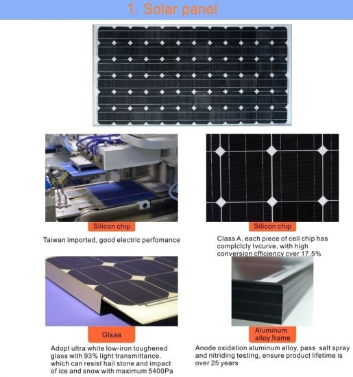 China 1000W 2000W 3000W Solar System, Solar Panel Kits for Home Use